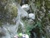 Dans les Gorges de la Via Ferrata d\'Ailefroide, après le bloc coincé