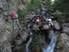 Les dernières passerelles de la Via Ferrata de la Combe à Puy saint Vincent