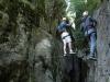 Le pont de la deuxième partie de la Via Ferrata des Gorges d\'Ailefroide
