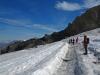 Départ sur le Glacier