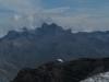 Le Mont Blanc pointe son nez avant l\'arrivée des nuages