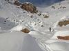 Montée à ski dans le Fond de Closis sous la Condamine
