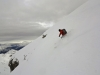 Début de la descente à ski de la Condamine.