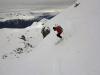 Les pentes raides du haut de la descente à ski de la Condamine.