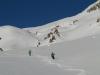 Descente du Col des Trois Frères Mineurs vers Montgenevre.
