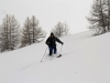 Ski sur la crête des Bans à Puy Saint Vincent.