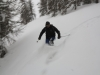 Descente à ski de la Tête d\'Oréac à Puy saint Vincent.