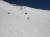 ski hors pistes a sestriere sous Fraiteve vers Borgata
