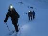 Départ du refuge du Glacier Blanc en ski de rando