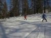 Descente par la piste de ski de fond.
