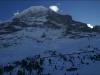 La face nord de l\'Eiger.