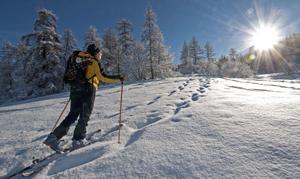 découverte du ski de randonnée aux Têtes à puy saint Vincent.