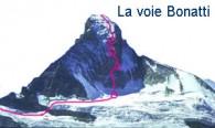 la voie de Bonatti au Cervin