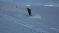 ski hors pistes à la grave