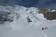Col des Ecrins sur le Glacier Blanc