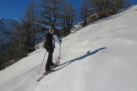 initiation ski de randonnée à Puy saint Vincent avec Escalade Aventure