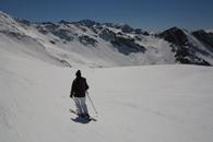 ski hors pistes à Sestriere avec un guide de haute montagne