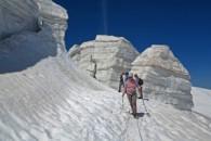 Alpinisme initiation au Col de La lauze, la Grave, avec un guide de haute montagne Alpes Aventure