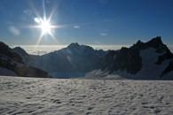 alpinisme avec un guide de haute montagne Alpes Aventure à la Roche Faurio dans le massif des Ecrins