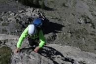 escalade a roche robert dans les massif des cerces avec un guide de haute montagne