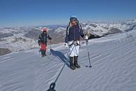 Alpinisme haute montagne en randonnée glaciaire au col de la Girose avec un Guide de Haute Montagne Alpes Aventure