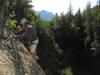 Troisième partie de la Via Ferrata des Gorges d\'Ailefroide