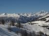 Vue depuis Sestriere vers le massif des Ecrins