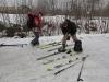 Départ avec les skis de randonnée à Puy saint Vincent.