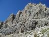 la face sud du Casteletto inferiore, le Spigolo à gauche.