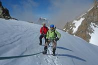 Randonnee glaciaire au Col de la Girose avec un Guide de Haute Montagne Alpes Aventure