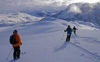 Ski Freerando à Montgenevre et Claviere avec un guide de haute montagne Alpes Aventure